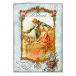 Regency French style Romantic Musical Couple Greeting Card