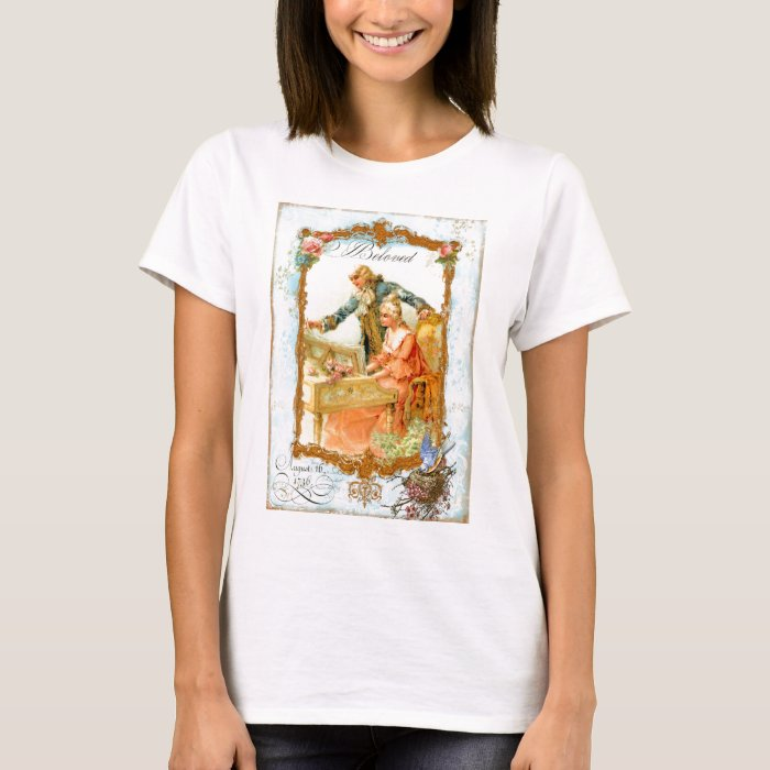 Regency French style Romantic Musical Couple T-Shirt