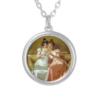 Regency Letter Round Pendant Necklace