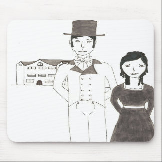 Regency Man and Wife (Time Won't Let Me Go) Mousepad