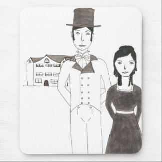 Regency Man and Wife (Time Won't Let Me Go) Mouse Pad