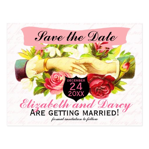 Regency Romance Save the Date Cards Post Cards