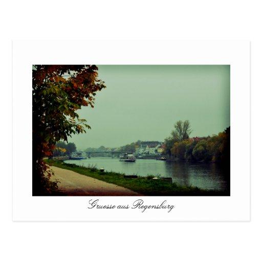 Regensburg Donau, Bavaria, Germany Postcard