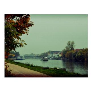 Regensburg Donau Postcard