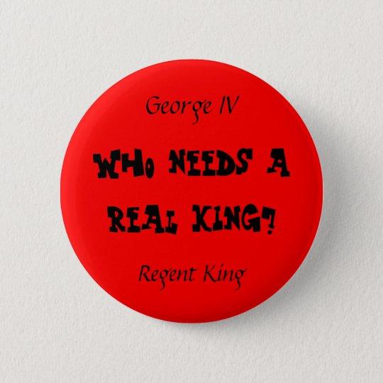 Regent King 6 Cm Round Badge