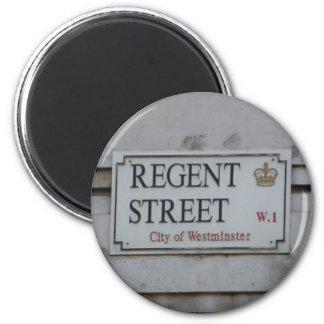 Regent Street London 6 Cm Round Magnet