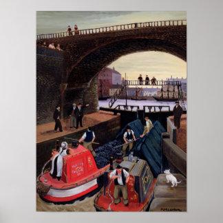 Regent's Canal Lock Poster