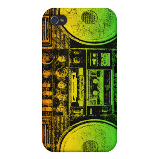 Reggae Boombox iPhone 4 Cover