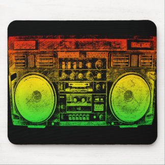 Reggae Boombox Mouse Mat