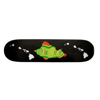 Reggae colored Oahu  skateboard