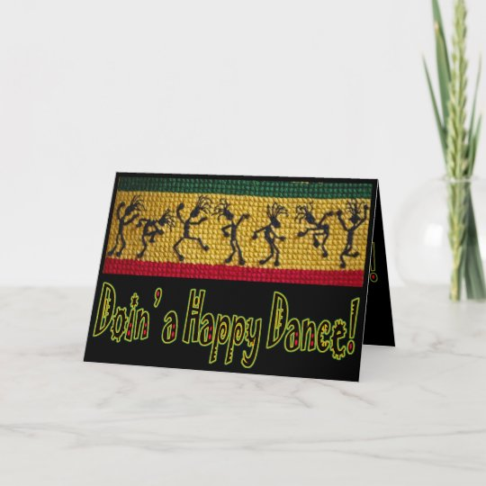 Reggae Dance Happy Birthday Card Zazzle