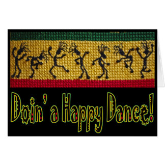 reggae dance happy birthday card