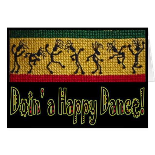 reggae dance happy birthday card
