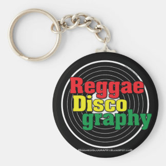 Reggae Discography Vinyl Basic Round Button Key Ring