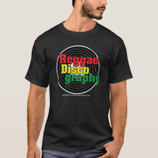 Reggae Discography Vinyl on Black T-Shirt