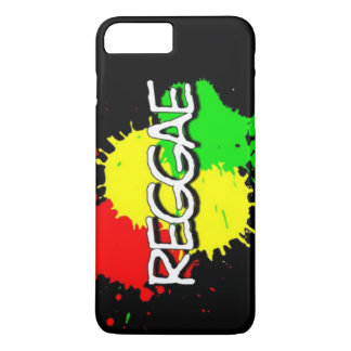 reggae flag spots on a black background iPhone 7 plus case