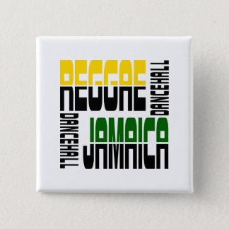 Reggae Jamaica Dance Hall Cube, 3 Colors 15 Cm Square Badge