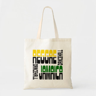 Reggae Jamaica Dance Hall Cube, 3 Colors Tote Bag
