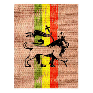 Reggae king lion postcard
