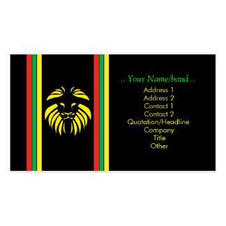 Reggae Lion B/Card Pack Of Standard Business Cards