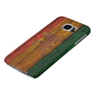 reggae lion crest on wood texture samsung galaxy s6 cases