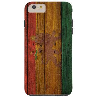 reggae lion crest onvwood texture tough iPhone 6 plus case