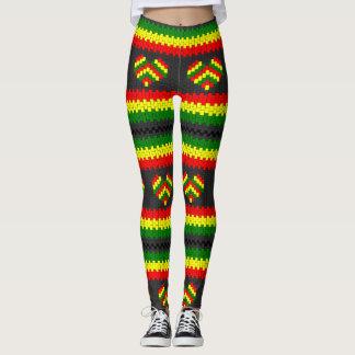 Reggae Love Heart Rasta hippie power Yoga put-went Leggings