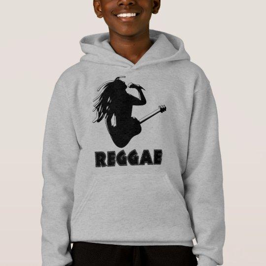 Reggae Music Rasta Rastaman Guitar Kids Hoodie
