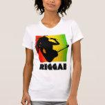 Reggae Music Rasta Rastaman Guitar Womens T-Shirts