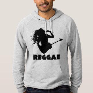 Reggae Music Rastaman Guitar Silhouette Custom Hoodie