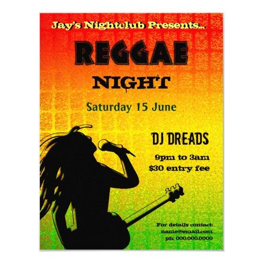 Reggae Night Party Invitation