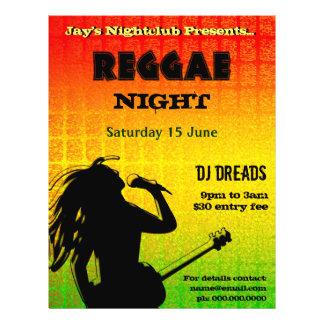 Reggae Night Party or Nightclub Flyer Full Color Flyer