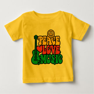 Reggae Peace Love Music Baby T-Shirt