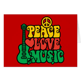 Reggae Peace Love Music Card