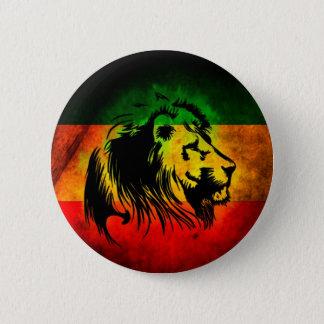 Reggae Rasta Lion 6 Cm Round Badge