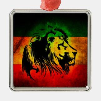 Reggae Rasta Lion Christmas Ornament