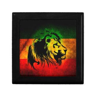 Reggae Rasta Lion Keepsake Box