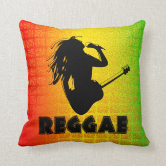 Reggae Rasta Rastafarian MoJo Square Throw Pillow