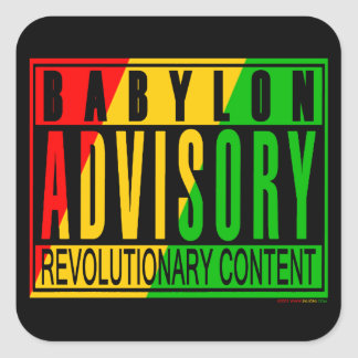 Reggae RASTA Square Sticker