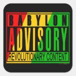 Reggae RASTA Square Stickers