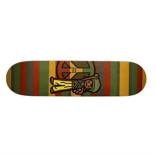 reggae ride. skate board