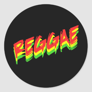 Reggae Round Sticker