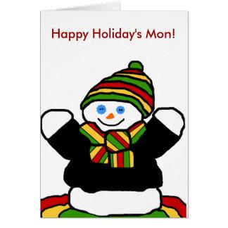 Reggae snowman blank card