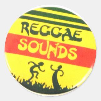 Reggae Sounds Round Sticker