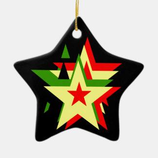 Reggae star ceramic star decoration