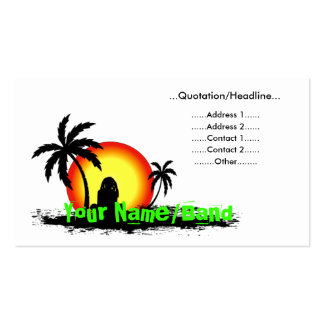 Reggae sunset pack of standard business cards