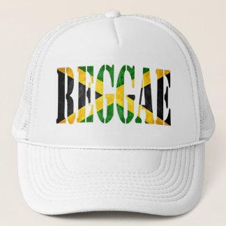 reggae with jamaica flag trucker hat
