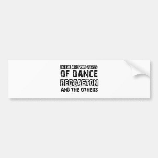 Reggaeton dancing designs bumper sticker