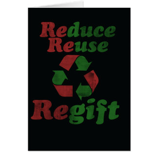 Regift for Christmas Greeting Card