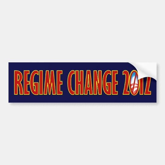 Regime Change 2012 Bumper Sticker